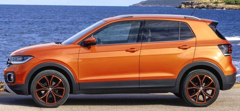 Volkswagen T-Cross сбоку