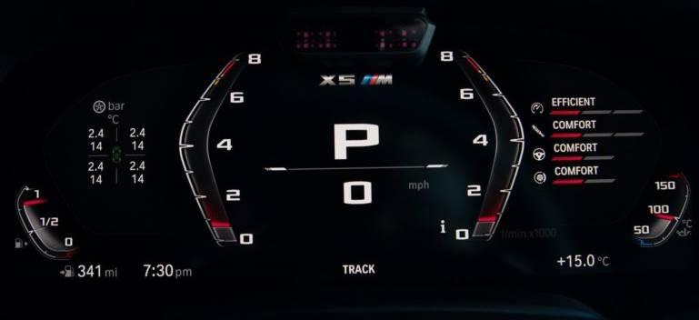 панель приборов X5 M